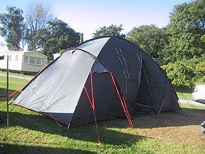 English: Modern 'dome' tent