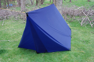 diy tarp tent: foul weather door