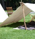 Old civil war style tent.
