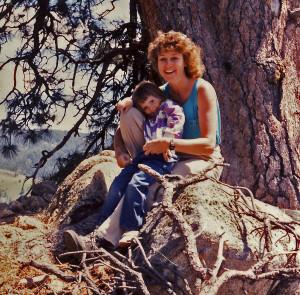 Karen and her daughter, Sarah, near Bogus Basin